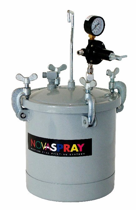 Pressure Paint Gun Pot : Novaspray spray guns pressure pots